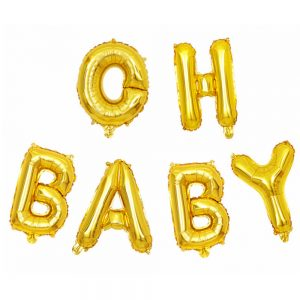 Oh baby letters ballon goud