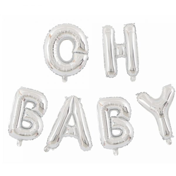 Oh baby letters zilver