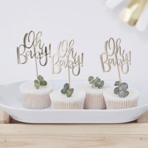 oh baby cupcake prikkertjes gender reveal party