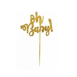Oh baby cupcake topper