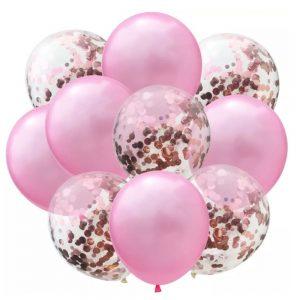 Roze en glitter ballonnen