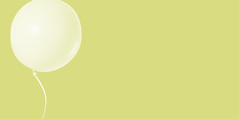 Banner groene ballon