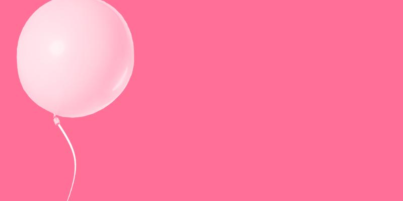 Banner roze ballon