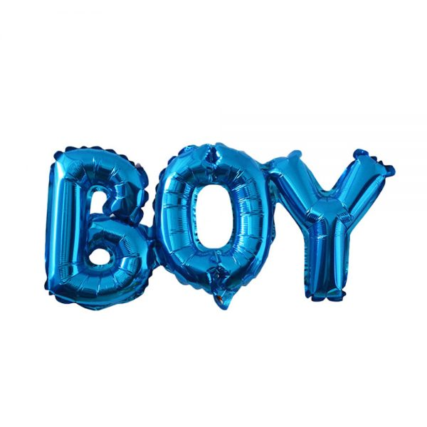 blauwe boy ballon