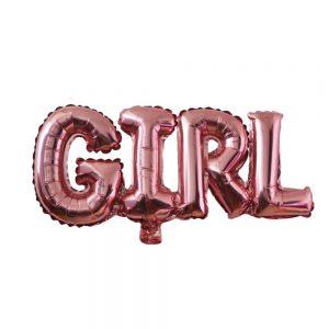 roze girl ballon