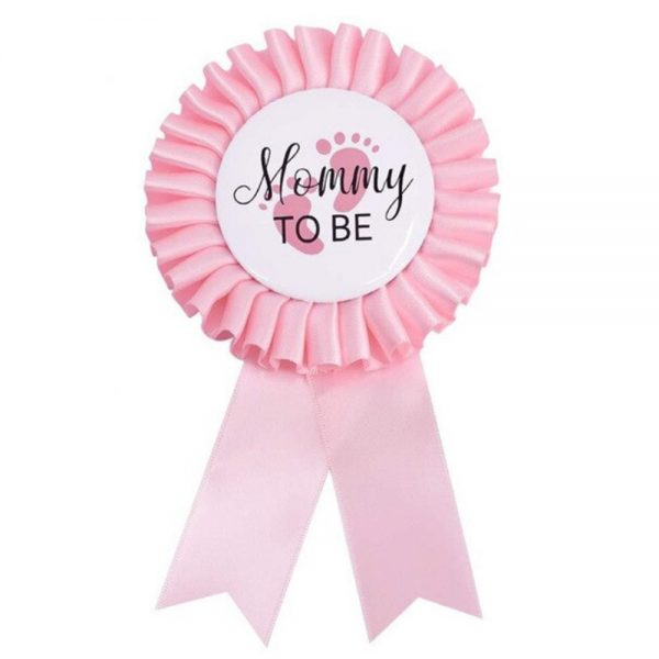 Mommy to be badge gender reveal baby shower