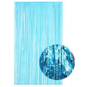 blauw gender reveal backdrop feestgordijn