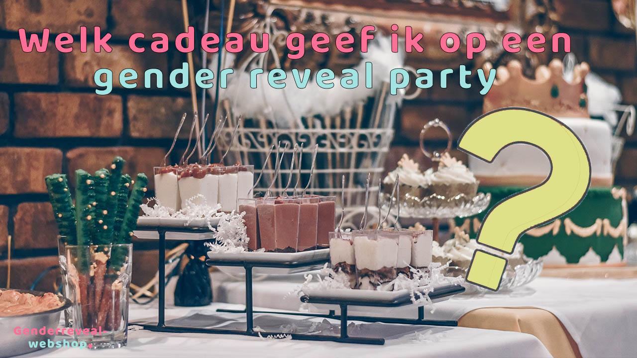 cadeau gender reveal party