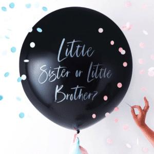 little brother sister ballon gender reveal