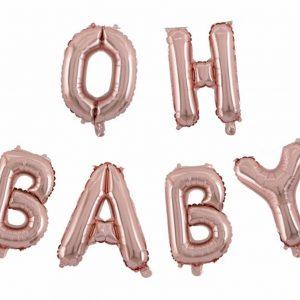 rosé gouden oh baby ballon gender reveal party